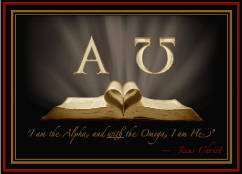 OPEN BIBLE WITH HEART - I AM THE ALPHA