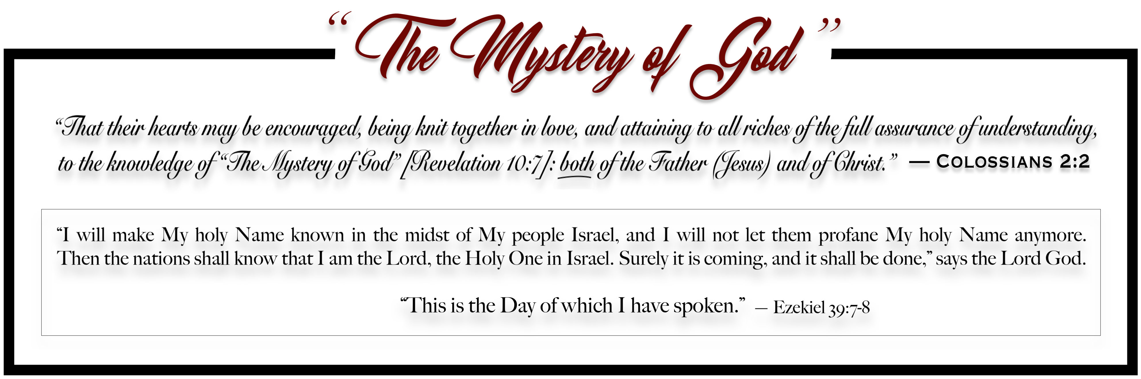 The Mystery of God - Master