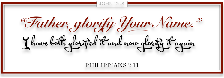 FATHER GLORIFY YOUR NAME - MASTER